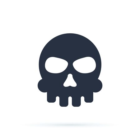 Skull isolated icon. Danger cartoon icon concept. Vector illustration. Skull hazard vector sign illustration