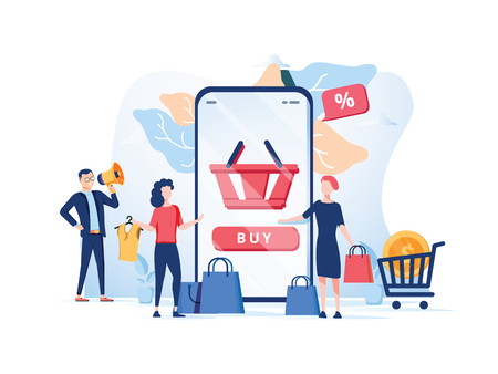 Order confirmation, Online internet shopping sale buy purchase process, online payment, customer service and delivery