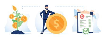 Funding sources concept icon. Financial management idea financial illustration. Budget planning. Business development.