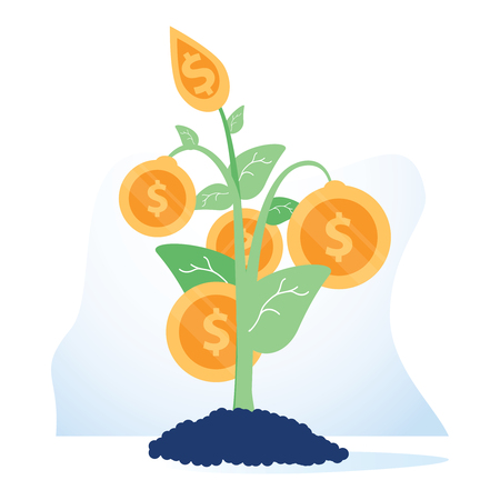Funding sources concept icon. Financial management idea financial illustration. Budget planning. Business development. Vettoriali