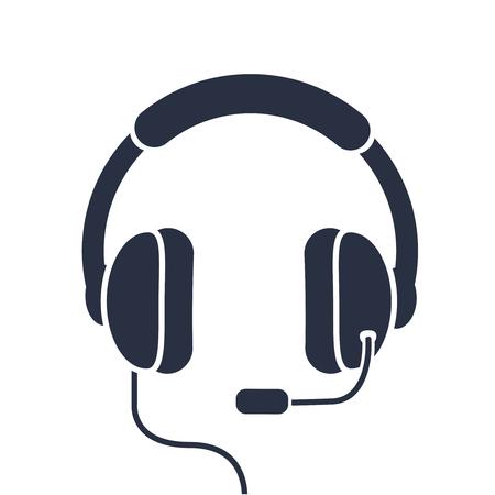minimal editable hotline icon. flat solid simple operator logotype graphic unique design isolated on white.