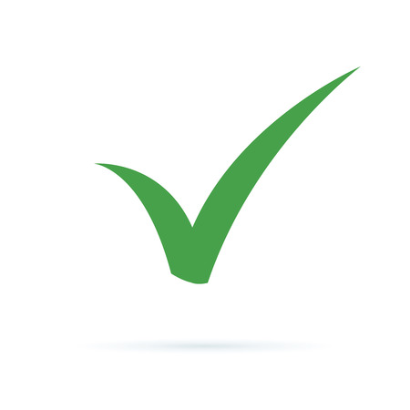 Black check mark icon. Tick symbol, tick icon vector illustration. Flat OK sticker icon. Isolated on white. Accept button. Good for web and software interfaces. Checkmark vector vote, choice, success