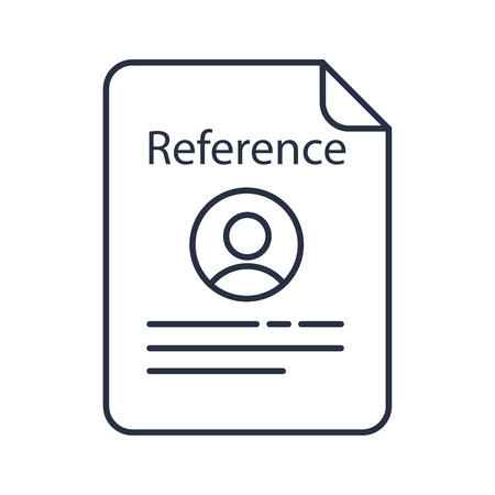 Reference letter color icon. Recommendation letter. Employment reference. Job application. Isolated vector illustration 向量圖像