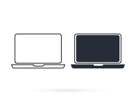 Laptop Icon Vector Logo Design Template