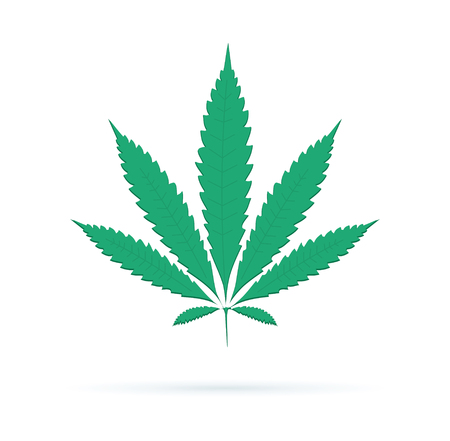 Cannabis sign icon. Vector icon. Dope ganja symbol, cannabis leaf silhouette. Medical weed legalize drug concept sign. 向量圖像