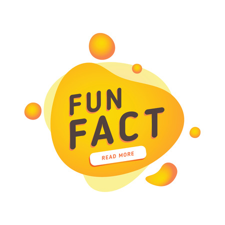 Fun fact typography bubble. Did you know knowledge design text message phrase information. Announcement speech stamp, business sticker. Quiz sign with fun fact text and button for website. Information