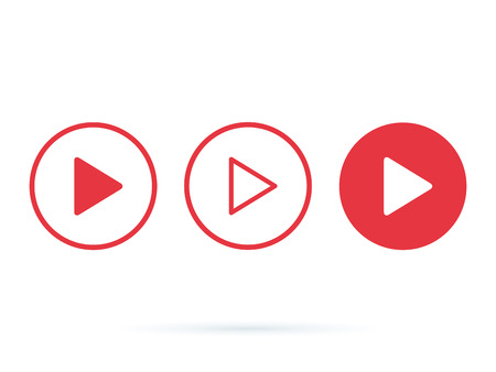 Player Button icon sign. Internet online radio streaming listening buttons set for ui, ux design, websites and app. Music applications, playlist online songs, radio station. Music blog 向量圖像
