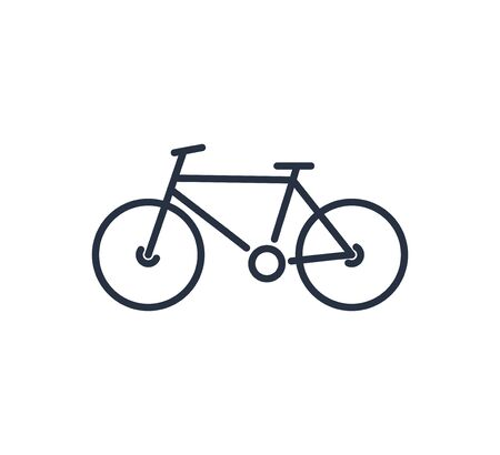 Bicycle sign icon in flat style. Bike vector illustration on white isolated background. Cycling business concept. Illustration
