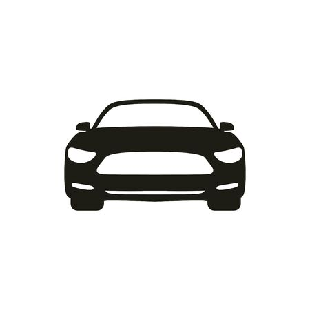 Car silhouette front icon symbol vector. City transportation vector illustration concept, Online car sharing icon can use for, landing page, template, ui, web, mobile app, poster, banner, flyer