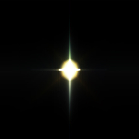 photographic effects: Element light with lens effect, abstract energy explosion