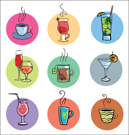 hot drinks: Collection of Cocktails and Hot Drinks