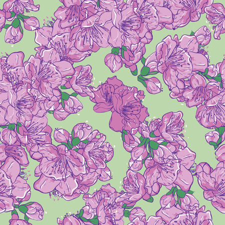 seamless pattern floral: Cherry blossom, flower seamless pattern. Floral background Illustration