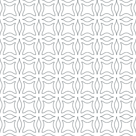 twisty: Abstract monochrome wavy seamless pattern, vector background Illustration