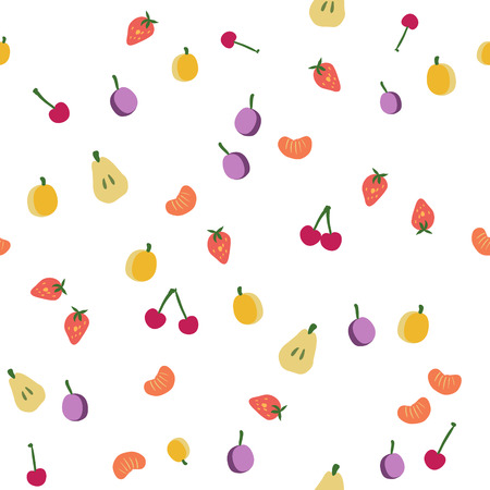 Fruits seamless pattern, vector background