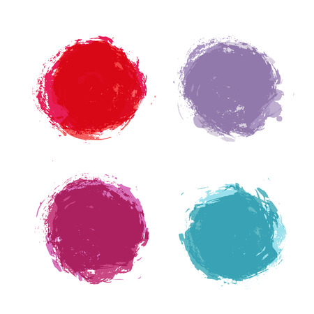 spatters: Abstract hand painted round stains set ans spatters