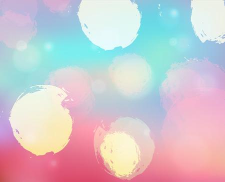 blurry: golden blurry glowing bokeh background Illustration