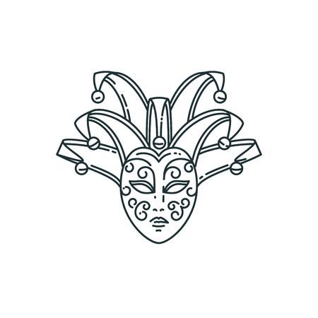 Vector line carnival mask design.
