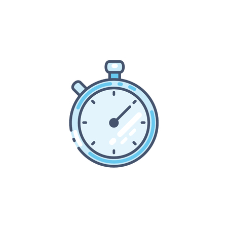 Stopwatch vector icon. Timer symbol isolated on white.  イラスト・ベクター素材