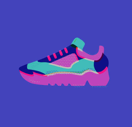 Cool sneaker. Sport, fitness & running. Healthy lifestyle. 向量圖像