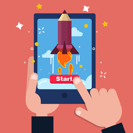 achievment: New Business Project Startup Concept Design in flat style. Modern illustration in vector