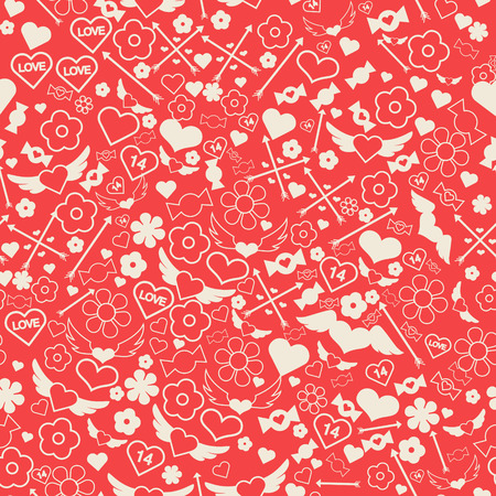 wedding couple: Valentines Day Seamless Pattern. Vector background for decoration