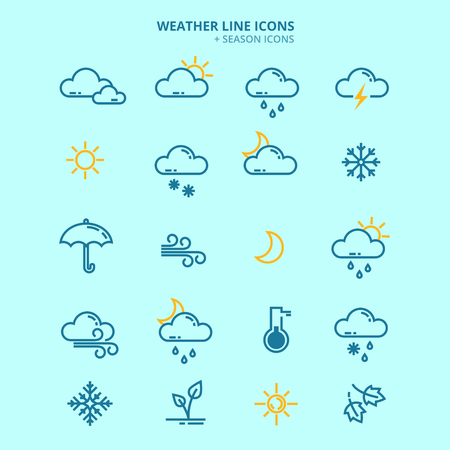 seasonable: Forecast Weather and Seasonable Icons Set