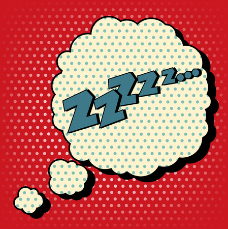 zzz: Comic Bubble in Pop Art Style with Expression Zzz. Vector illustration in vintage style