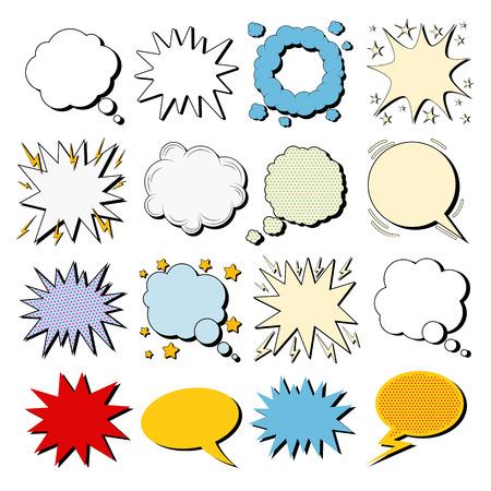 Grote Set Comics Bubbles in Pop Art Style. Vector illustratie