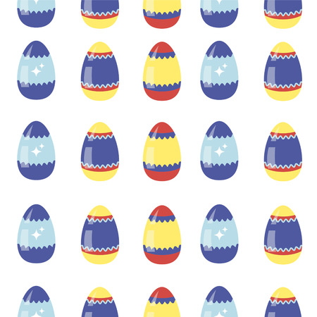 love symbols: Happy Easter Seamless Pattern with Colorful Eggs. Vector background