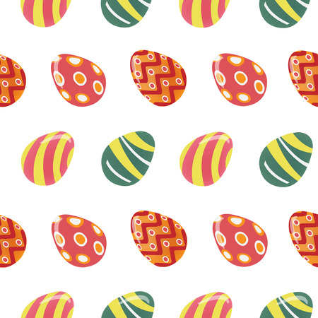 love symbols: Happy Easter Seamless Pattern with Colorful Easter Eggs. Vector background