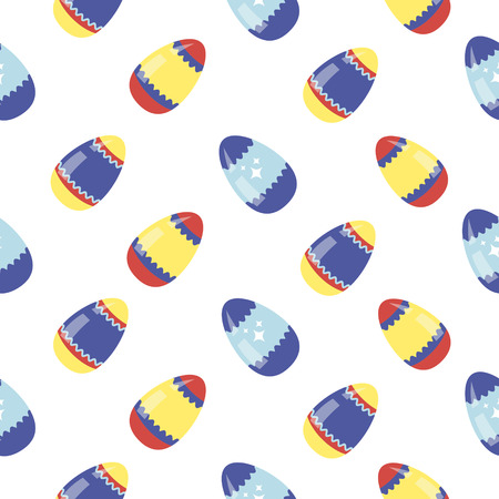 chick cartoon: Happy Easter Seamless Pattern with Colorful Easter Eggs. Vector illustration