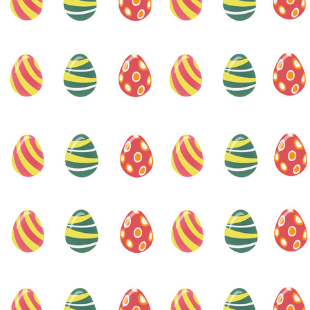 love symbols: Happy Easter Seamless Pattern with Colorful Easter Eggs. Vector illustration