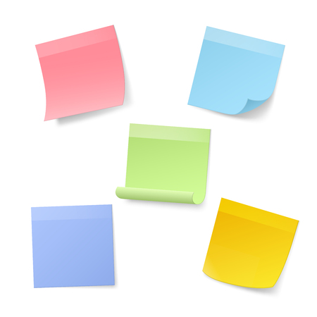 note pad: Blank Realistic Sticky Note Papers. Vector illustration Illustration