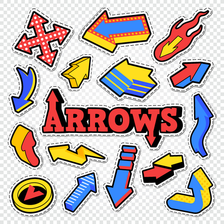 Arrow Isolated Collection for Stickers, Prints and Badges. Abstract Elements. Vector illustration Ilustrace
