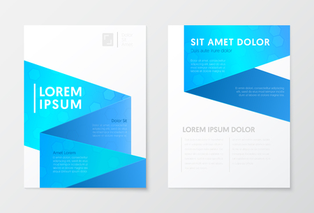 Blue Annual Report Business Brochure, Booklet, Cover Flyer Template. Corporate Design. Abstract Poster. Vector illustration Illusztráció