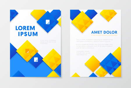 Annual Report Business Brochure, Booklet, Leaflet Cover Flyer Template. Corporate Design. Abstract Poster. Vector illustration