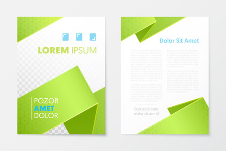 Green Annual Report Business Brochure, Booklet, Leaflet Cover Flyer Template. Corporate Design. Abstract Poster. Vector illustration