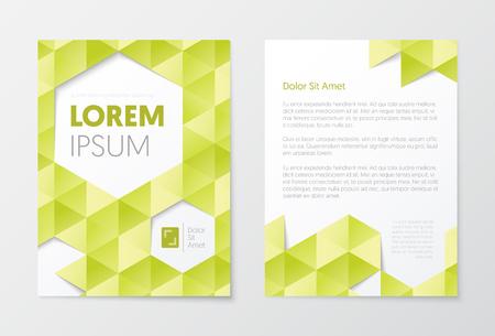 Modelli di brochure aziendali. Disegno astratto Flyer. Marketing di opuscoli di presentazione di copertina di volantini. Illustrazione vettoriale Archivio Fotografico - 85935979