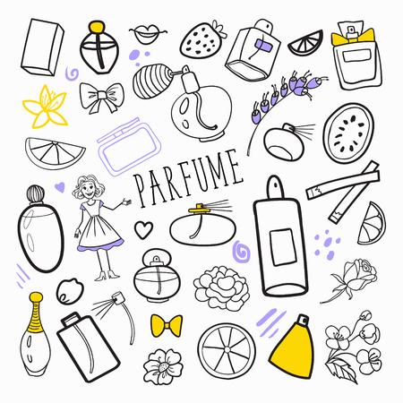 香水美容化粧品手書きセット