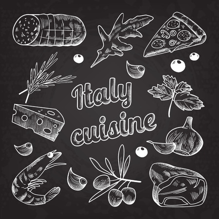 Italian Food Hand Drawn 向量圖像