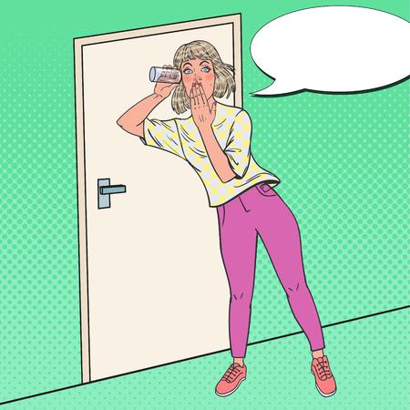 Pop Art Surprised Woman Illustration