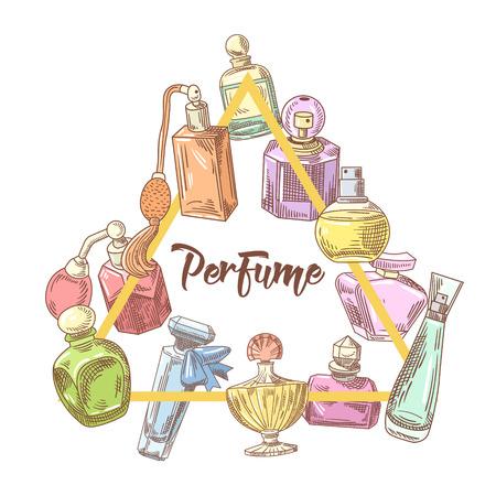 Perfume Bottles Hand Drawn Doodle