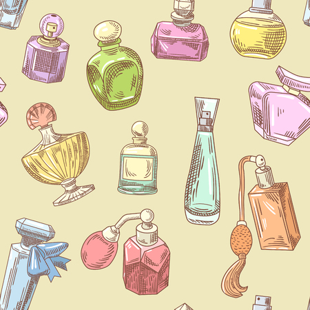 Perfume Bottles Hand Drawn Pattern