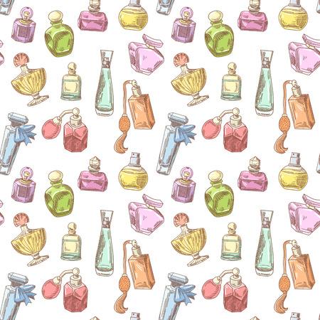 Perfume Bottles Hand Drawn