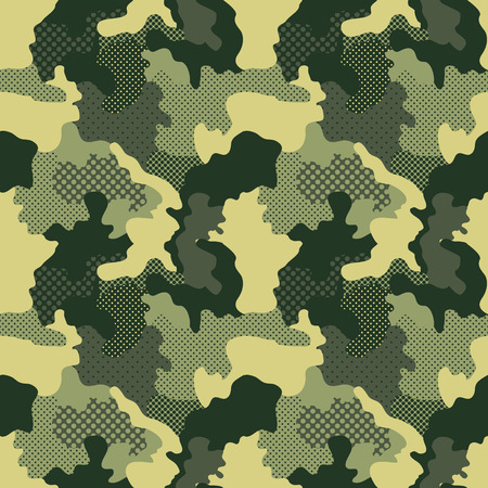 Militaire Camouflage Patroon Stock Illustratie