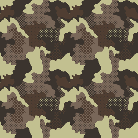 Military Camouflage Pattern Иллюстрация