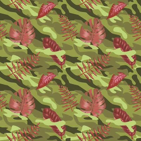 Military Camouflage Pattern Illustration