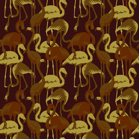 Military Pattern with Tropical Birds Flamingo Фото со стока - 87577009