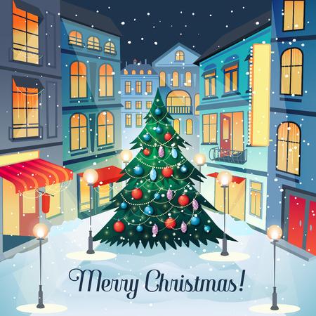 christmas greeting card: Merry Christmas Vintage Greeting Card