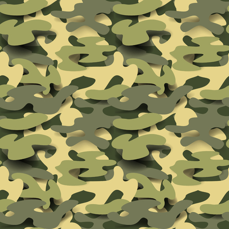 Militaire naadloze patroon. Camouflage achtergrond. Camo Fashion textuur. Army Uniform. Vector illustratie